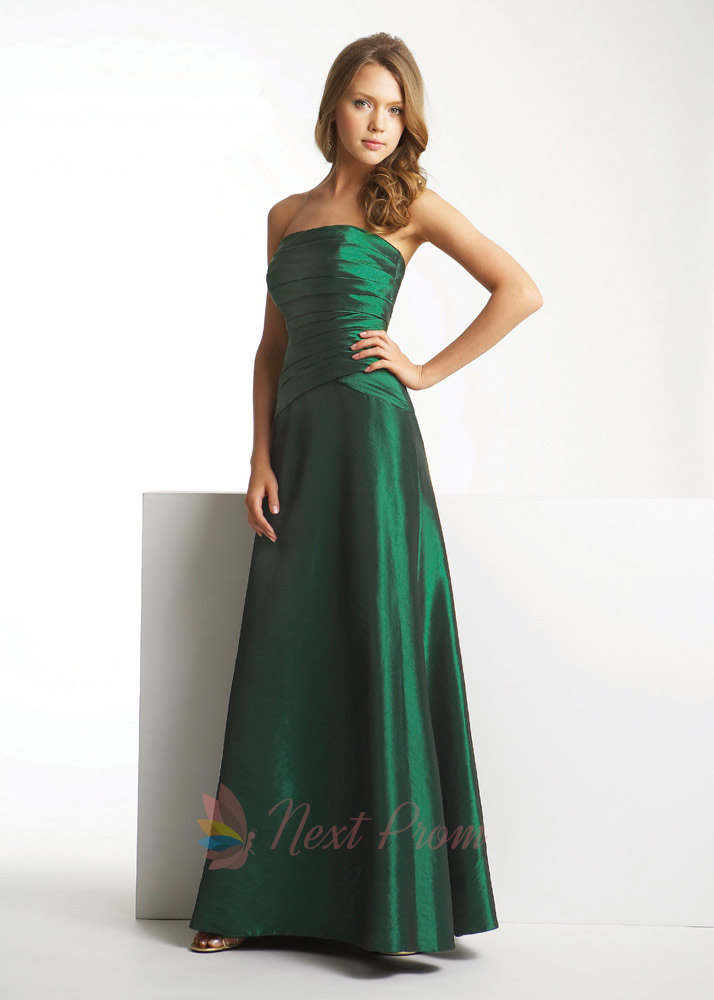 dark forest green prom dress fancy bridesmaid dresses