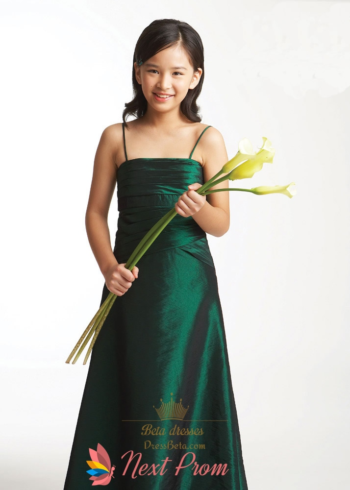 Flower Dresses In Emerald Green