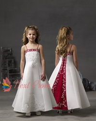 White And Red Flower Girl Dresses, Flower Girl Dresses Red And White