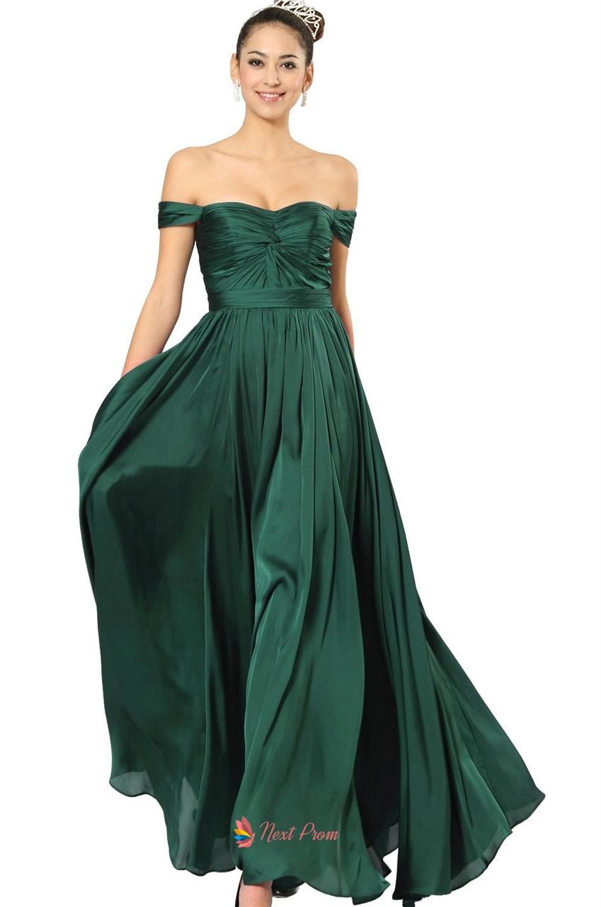 Link off shoulder dresses for women emerald green dresses for women