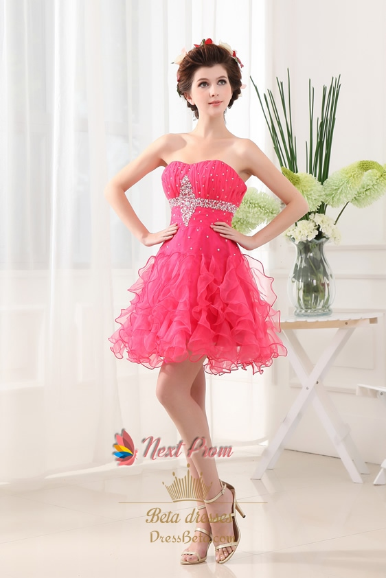 Hot Pink Homecoming Dresses Short 101