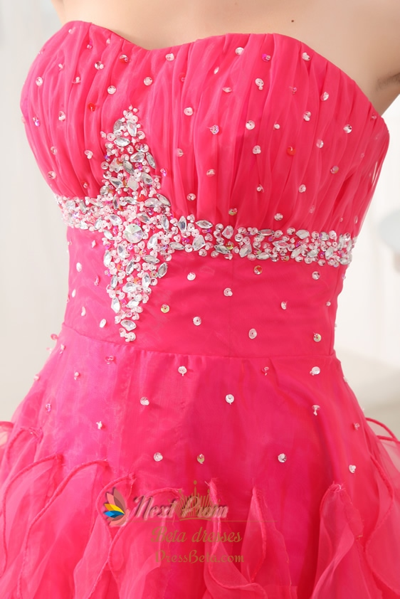 Hot Pink Homecoming Dresses Short 75