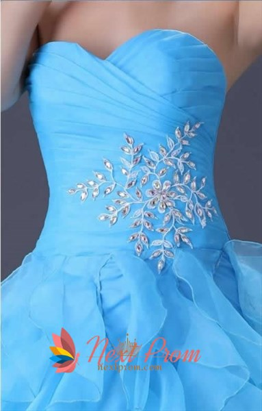 Luxury Turquoise Quinceanera Dresses 2019,Turquoise Ball Gown Prom Dresses