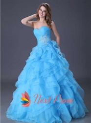 Luxury Turquoise Quinceanera Dresses 2018,Turquoise Ball Gown Prom Dresses