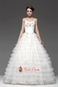 Tiered Ball Gown With Beaded Lace Appliques, Layered Wedding Dresses