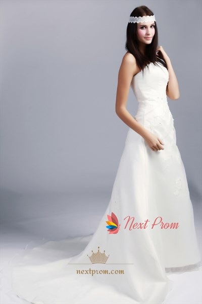 One Shoulder Organza Wedding Dress, One Shoulder A Line Wedding Dress