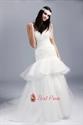 Two Tiered Wedding Dress, Organza Sweetheart Mermaid Wedding Dress