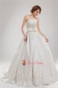 Embroidered Satin Wedding Dress, Embroidered Ball Gown Wedding Dresses