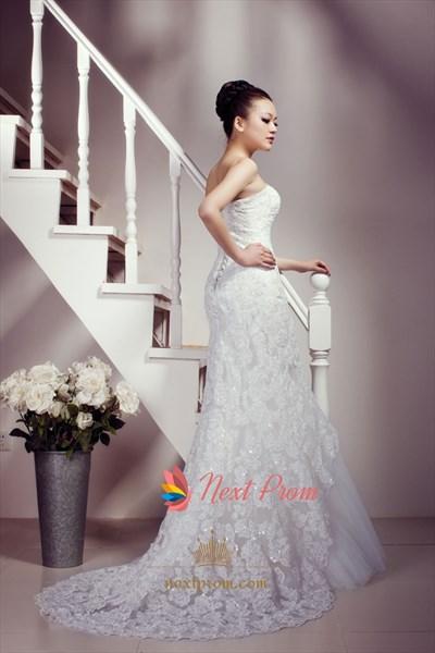 Beautiful Mermaid Style Wedding Dresses 2019,Beautiful Lace Wedding Dresses