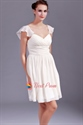 Chiffon Short Bridesmaid Dresses, Ruched Chiffon Bridesmaid Dress