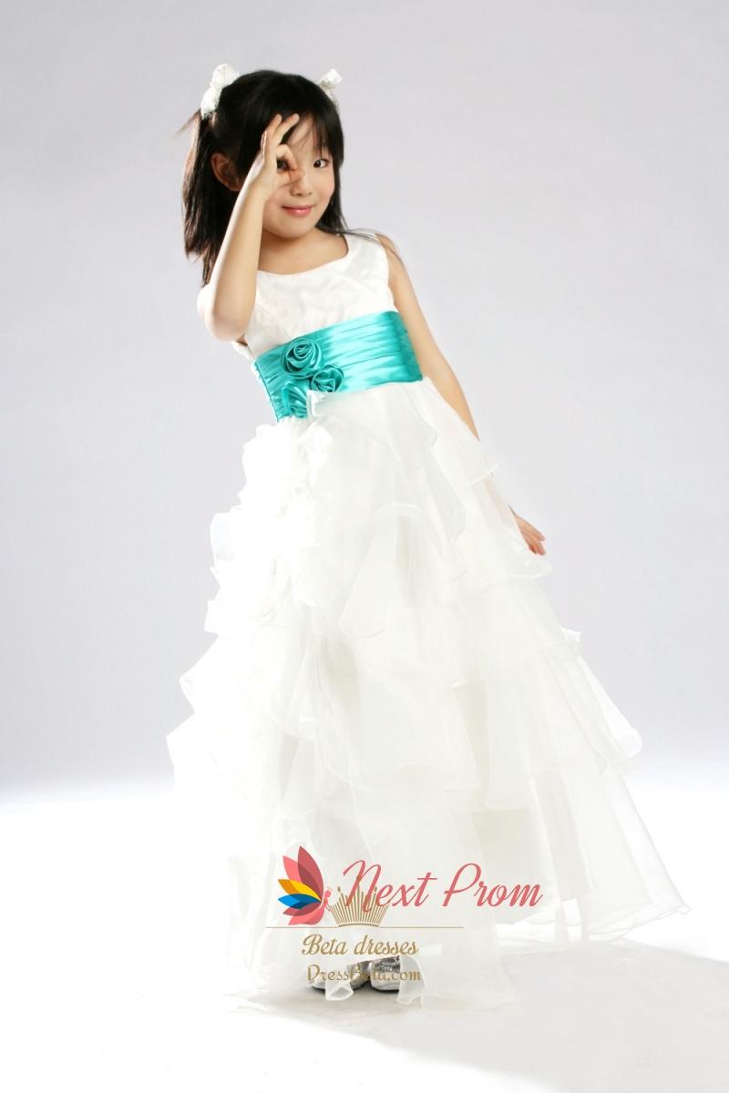 48a2a655852 Tiered Organza Flower Girl Dress