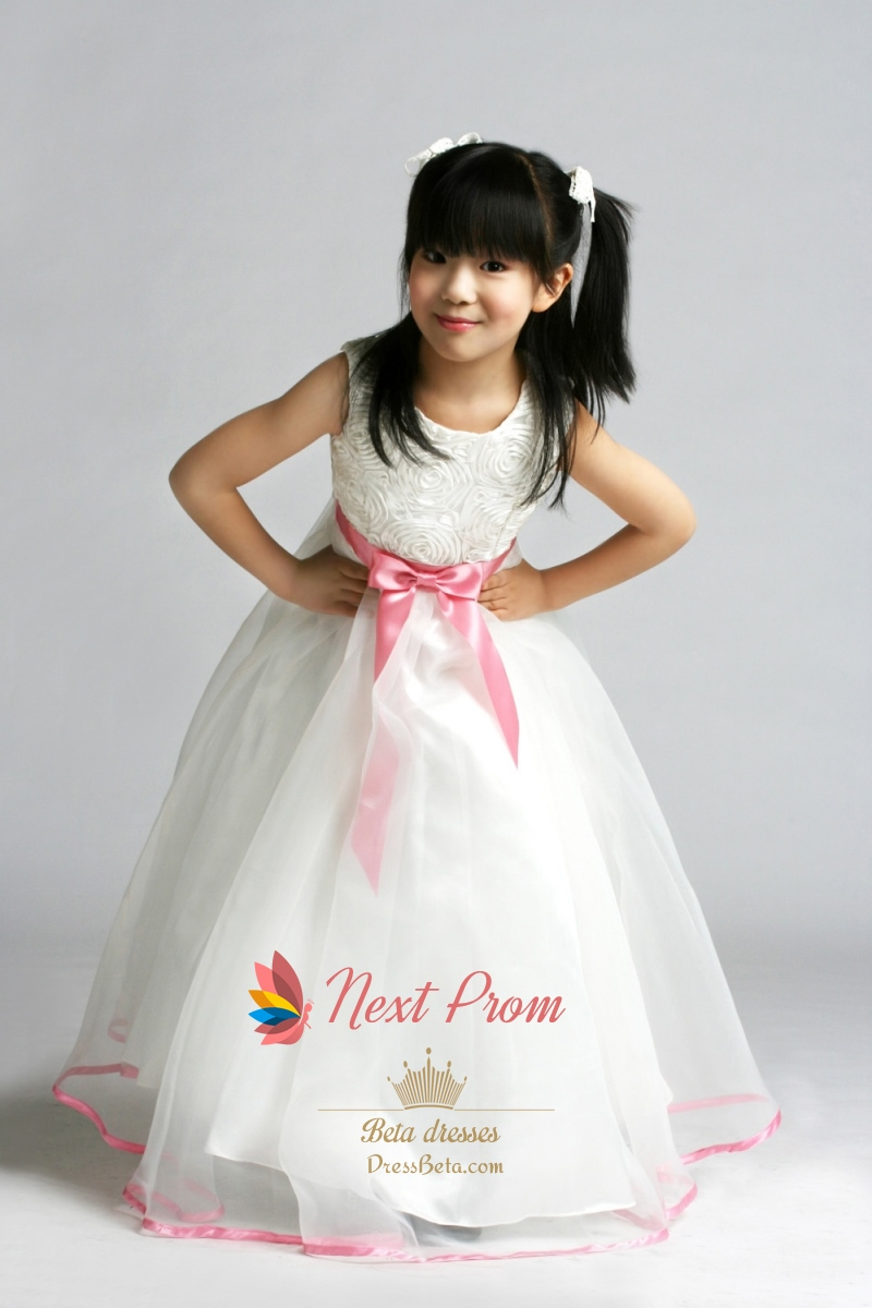 Jewel Flower Girl Dress Organza Flower Girl Dress Flower Girl