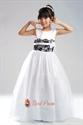 Sleeveless Organza Wedding/Evening Flower Girl Dress With Black Lace