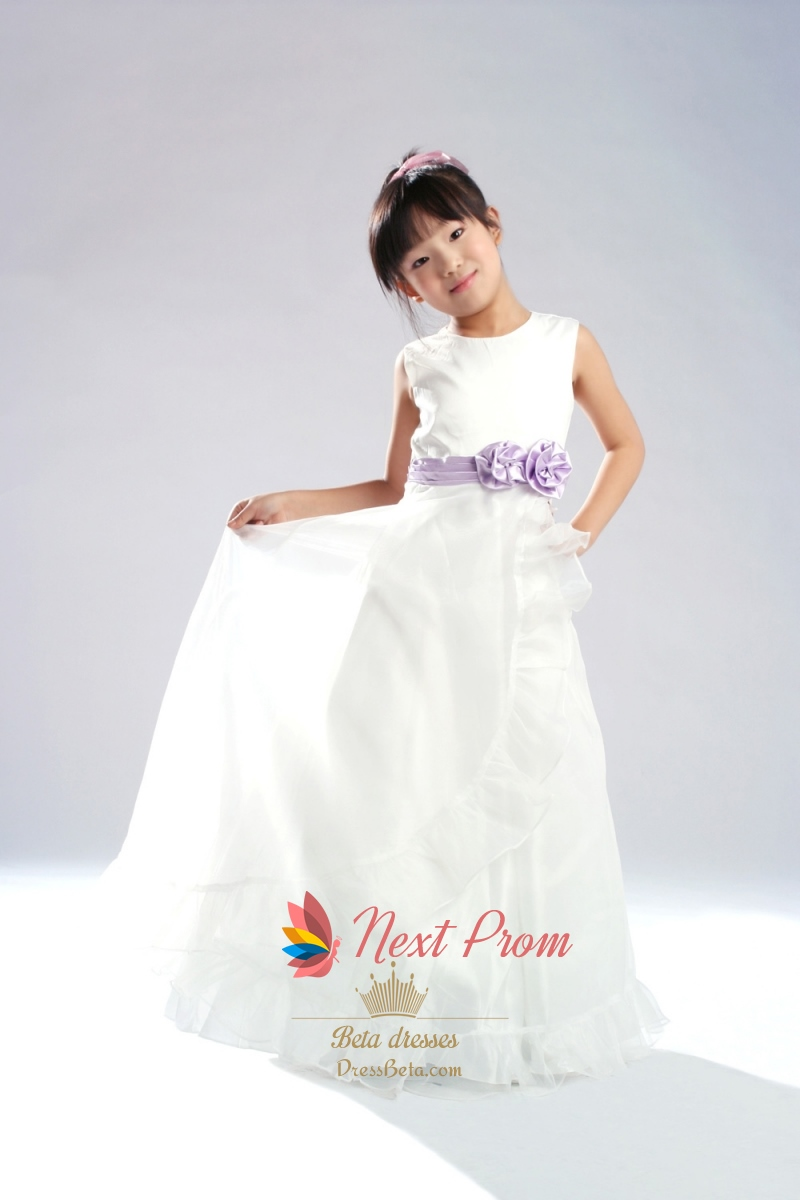 Scoop Neck Flower Girl Dress Organza Flower Girl Dress Flower Girl