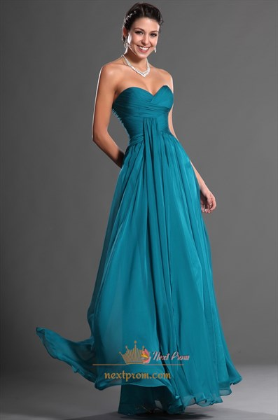 Dark Teal Chiffon Bridesmaid Dresses,Teal Bridesmaid Dresses Cheap