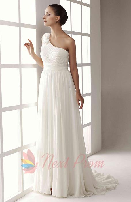 Wedding Dress One Shoulder Chiffon 88