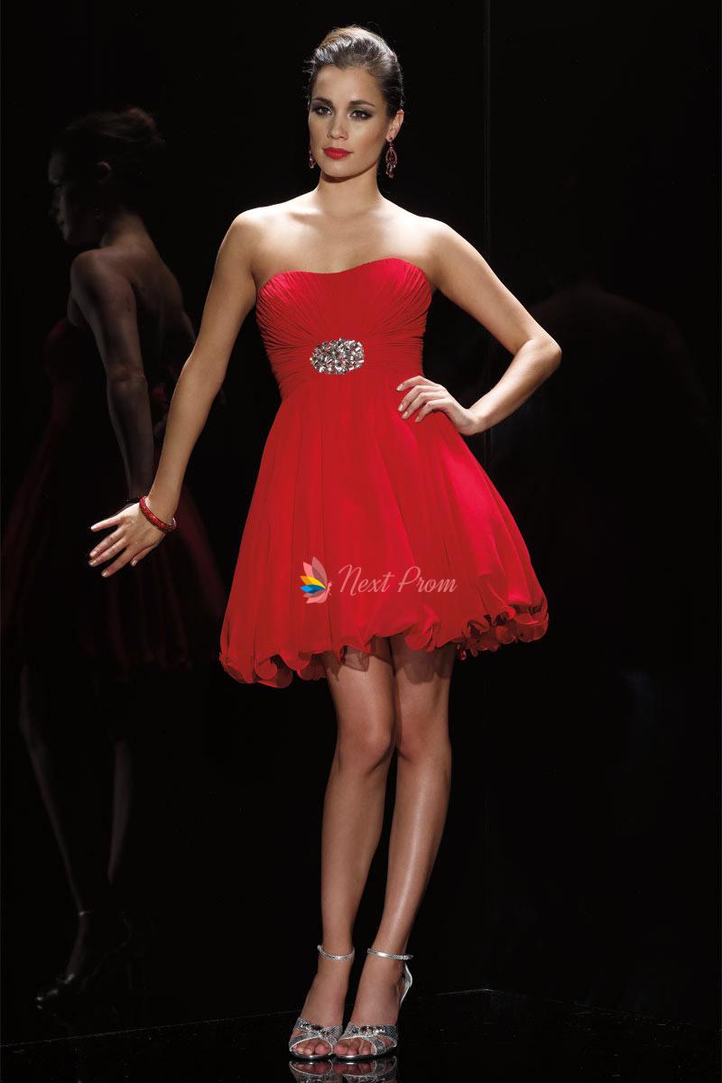 Red Dress Sweetheart Neckline