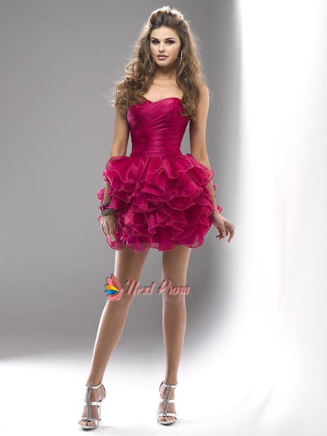 Short Hot Pink Cocktail Dress,Fuchsia Short Prom Dresses ...