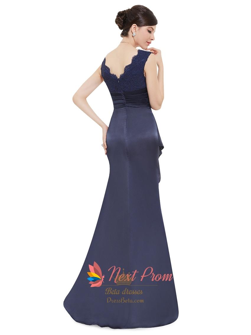 Navy Blue Long Prom Dresses Uk 81