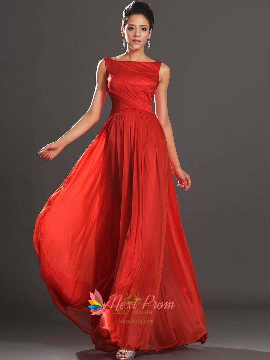 Long red prom dresses with straps
