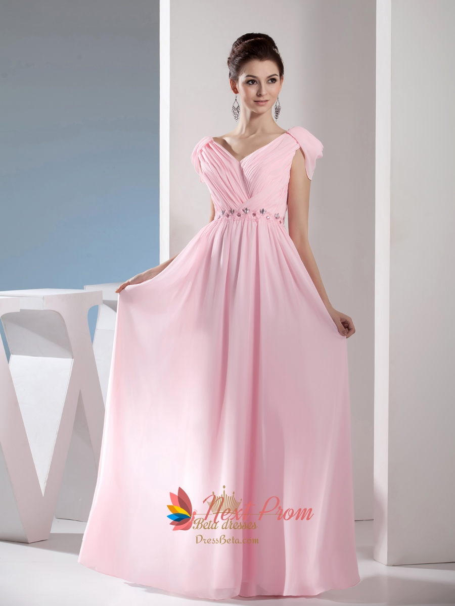 686a0e731574 Light Pale Pink Off The Shoulder Long Chiffon Bridesmaid Dresses SKU -NP227