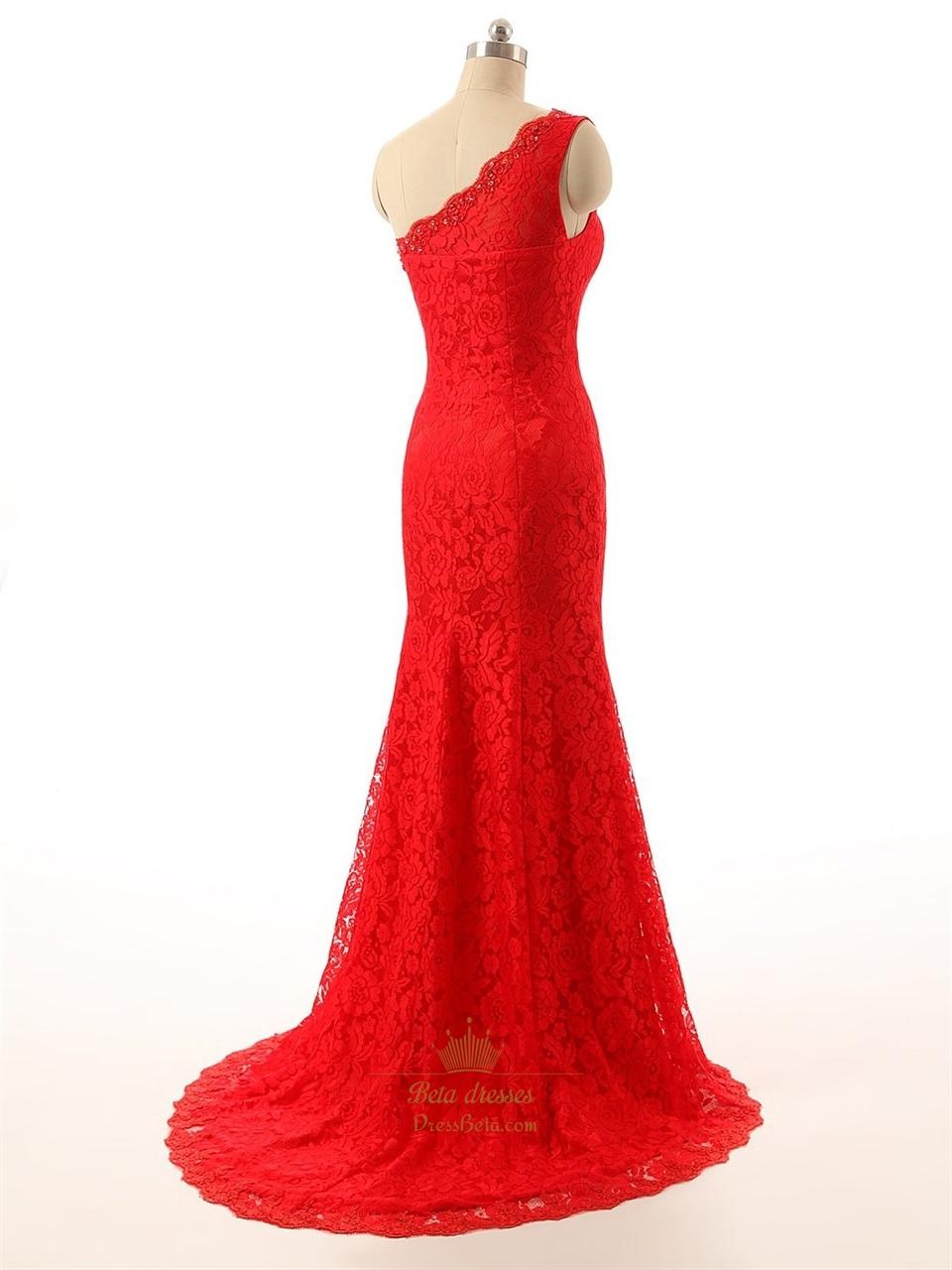 43f388c67f9a Red Lace Prom Dress Mermaid