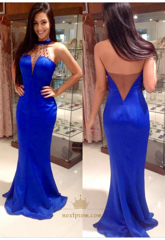 Royal Blue Prom Dress With Open Back | Next Prom Dresses