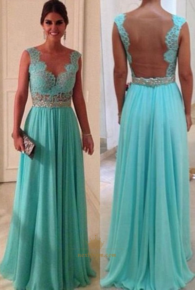 Light Blue Lace Dresses | Next Prom Dresses