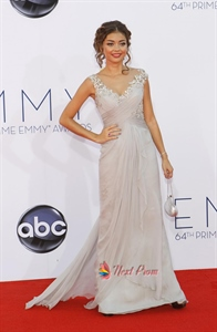 Sarah Hyland Emmy Dress 2021,Emmys 2021 Embroidered Prom Dress Red Carpet Dresses