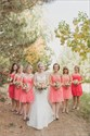Coral Bridesmaid Dresses With Cowboy Boots,Short Coral Bridesmaid Dresses Under 100