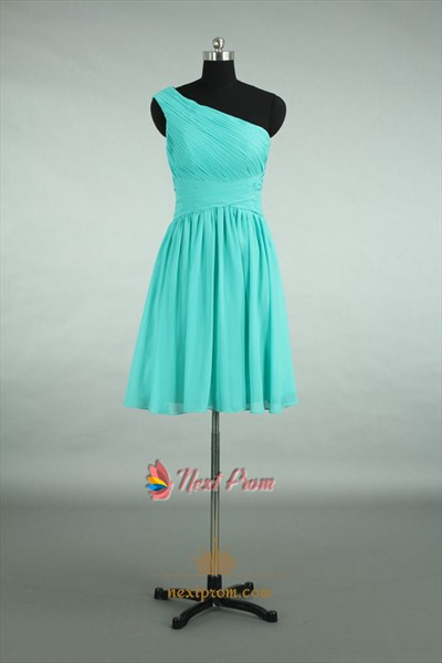 Turquoise One Shoulder Bridesmaid Dresses,Turquoise Bridesmaid Dresses Under 100