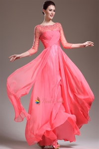 Pink Prom Dresses With Sleeves,Hot Pink Prom Dresses With Diamonds 2021