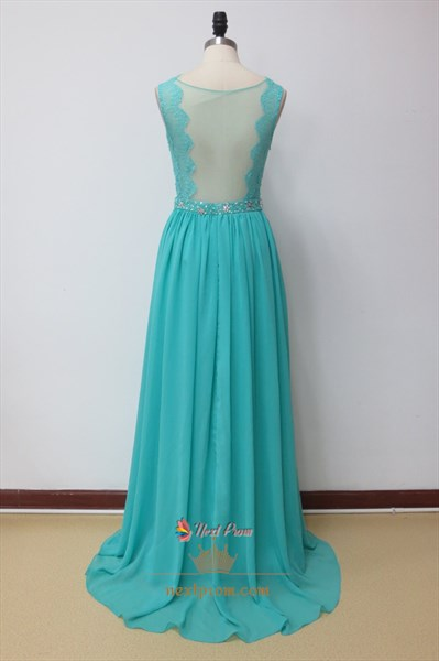 Aqua Blue Prom Dresses With Lace Cap Sleeves,Aqua Blue Prom Dresses 2019