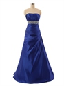 Royal Blue Strapless A-Line Sweetheart Floor-length  Evening/ Prom Dress