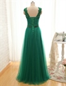 Bateau Beading Sleeveless Sweep/Brush Train Satin Dresses