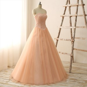 Wedding Dresses Sweetheart Neckline Princess Ball Gown Strapless