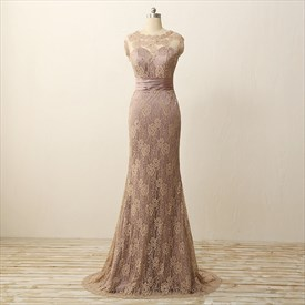 Embellished Lace Detail Sweetheart Neckline Sheer Illusion Prom Dress