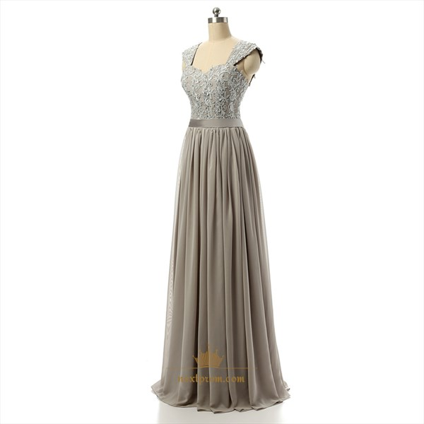 Elegant Floor Length Sleeveless Chiffon Empire Waist Dress