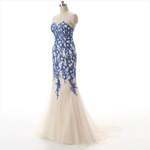 Sweetheart Strapless Neckline Mermaid Prom Dress With Ruffle Skirt