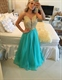Sleeveless A Line Beaded Bodice V Neck Prom Dress With Open Back