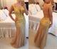 Cap Sleeve Beaded Floral Applique Illusion Back Mermaid Prom Dress