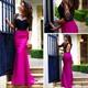 Short Sleeve Lace Open Keyhole Back And Fuchsia Mermaid Prom Dress