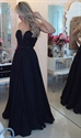 Black Sleeveless Sweetheart Beaded Bodice Sheer Back Long Prom Dress