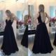 Black Sleeveless Sweetheart Beaded Bodice Sheer Back Long Prom Dress