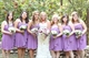Lavender Strapless Ruched Chiffon Bridesmaid Dress With Front Cascade