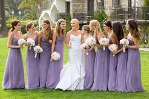 Spaghetti Strap Ruched Bodice Chiffon Bridesmaid Dress With Open Back