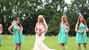 Green Short Strapless Sweetheart Bridesmaid Dress With Flower Detail