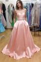 Pink Elegant Strapless Sweetheart Floor Length Formal Evening Dress