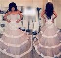 Elegant Strapless Sweetheart Lace Embellished Mermaid Wedding Dress