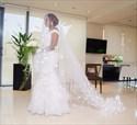 White Off The Shoulder Lace Applique Embellished Mermaid Wedding Dress